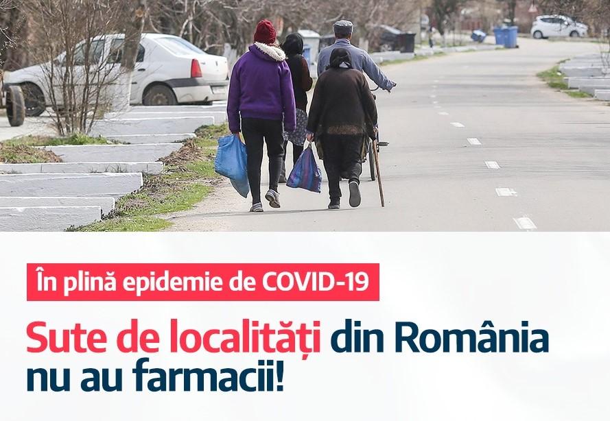 Inițiativă legislativă USR pentru stimularea deschiderii de farmacii în localitățile unde nu există